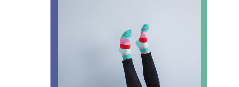 "rougeimaginaire: ""Cosy Sunday"" - layer cake socks from Minga Berlin."